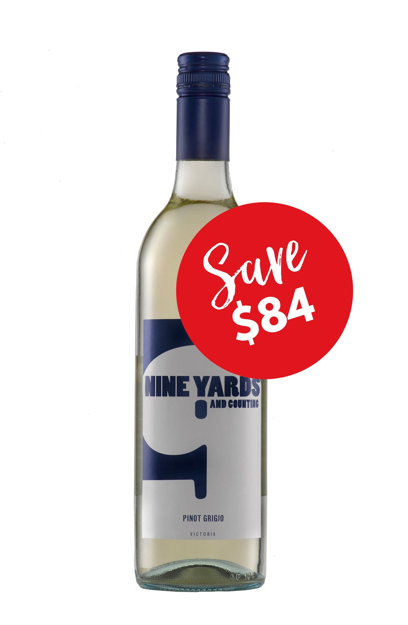 Nine Yards and Counting Pinot Grigio 2016 (12 bottles)