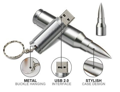 Bullet USB Flash Drive [Military Gift For Him]