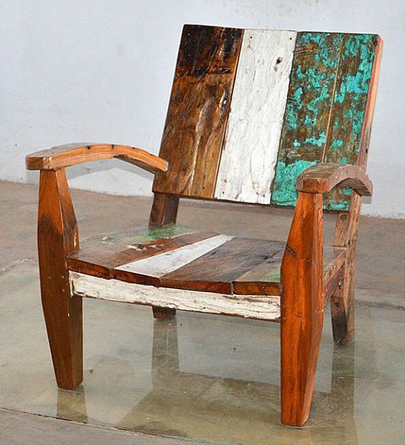 Nice Outdoor Furniture   Outdoor Furniture, Reclaimed Teak Adirondack Style  Chair Made From Bali Boat Wood