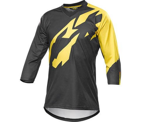 Mavic CROSSMAX PRO 3/4 SLEEVE JERSEY Black/Yellow