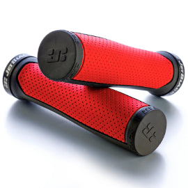 JB Clutch Lock On Grips Red/Black With Black Rings