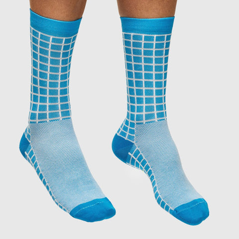 Maap Grid Sock Light Blue