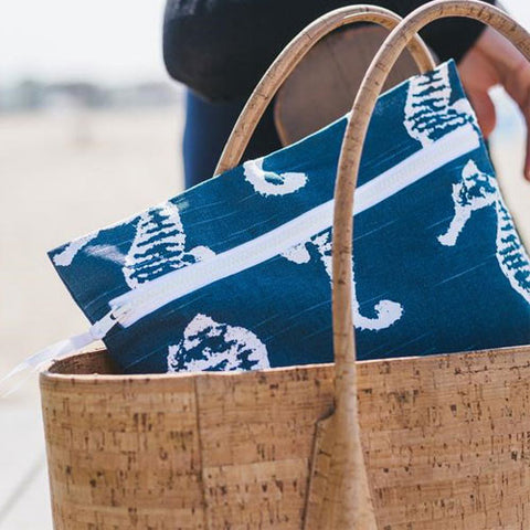 Wet Bag by Wander Wet Bags Blue Seahorse