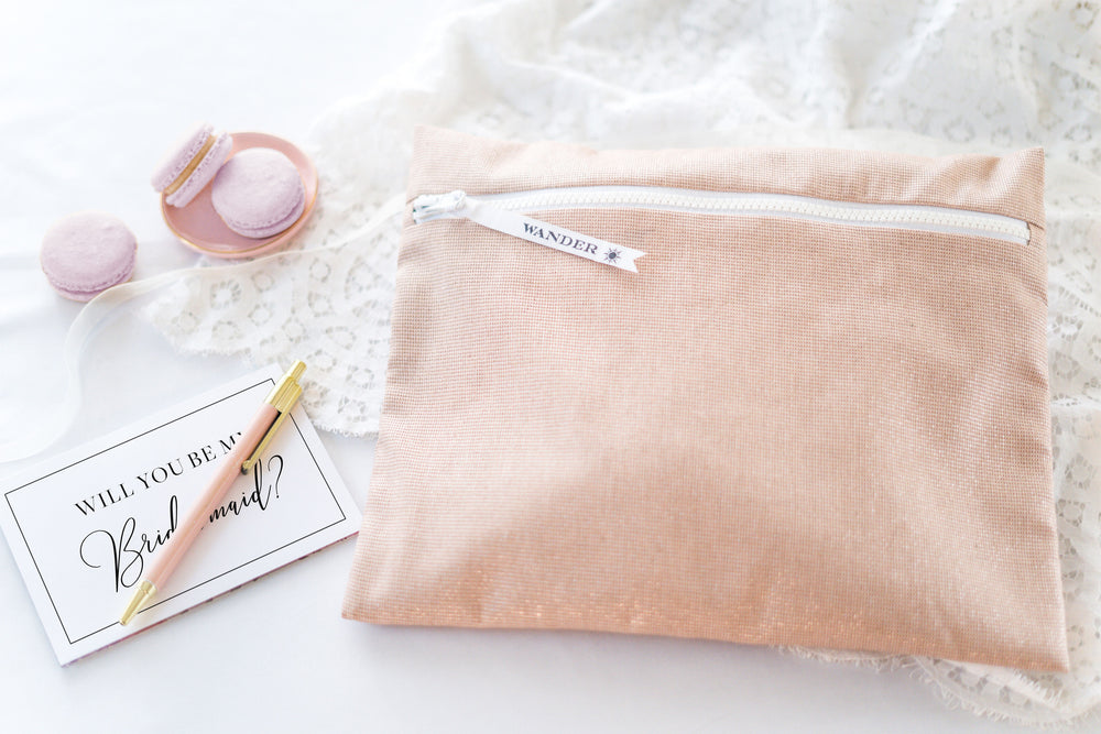 Sparkling in Rosé Blush: The Original Wander Wet Bag