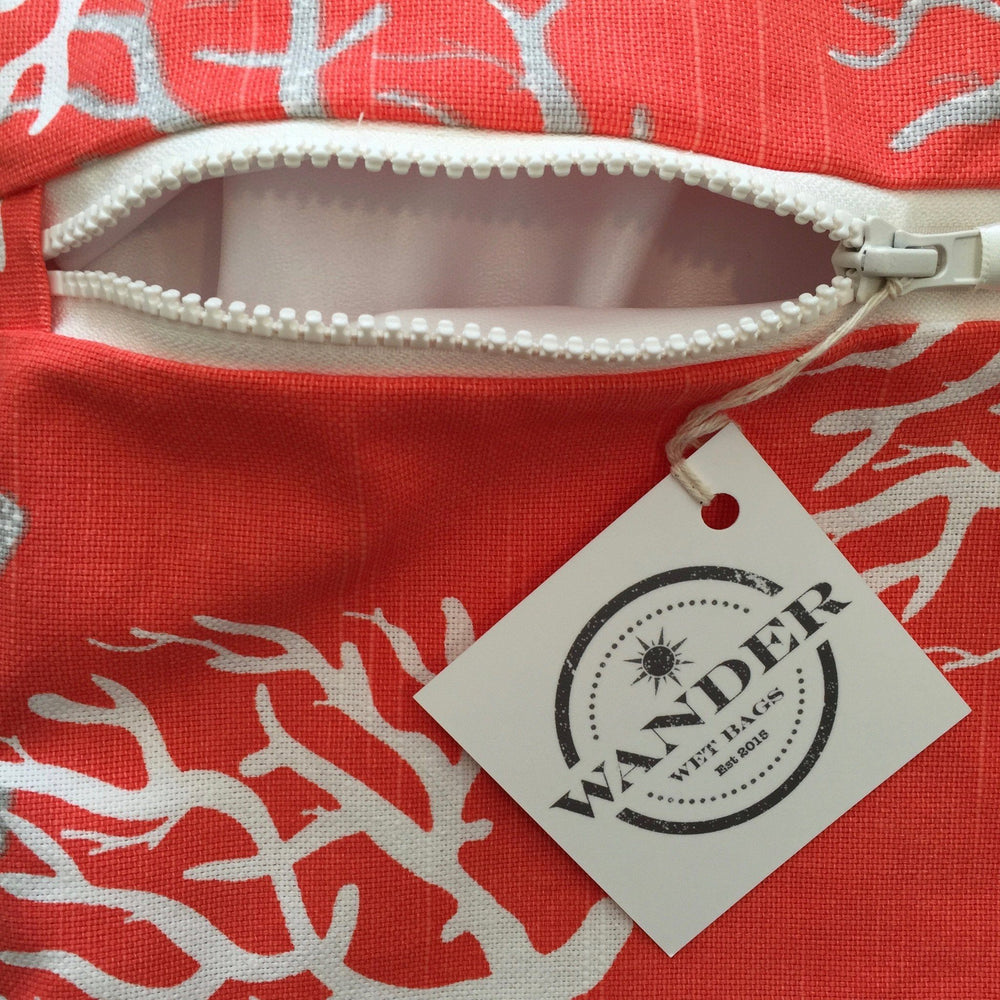To The Sea in Coral Reef Wet Bag Hang Tag