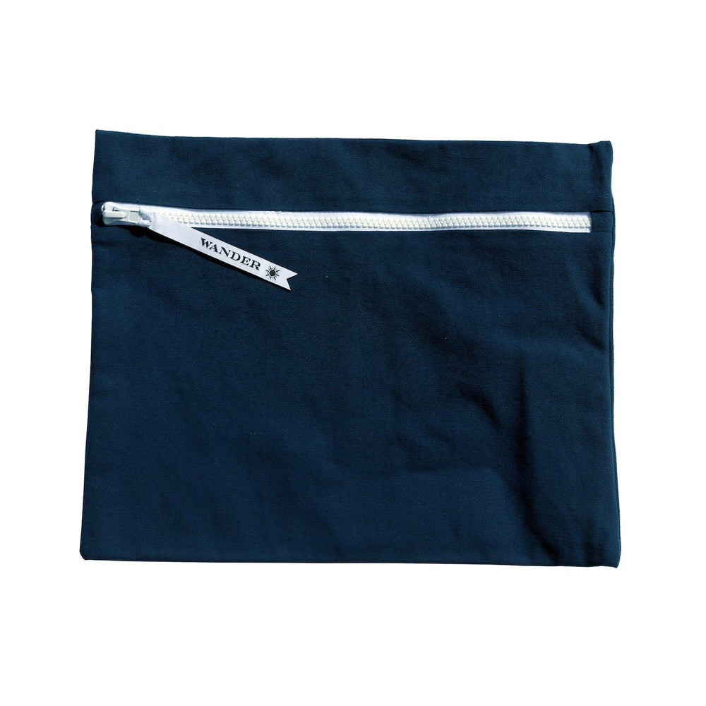 solid blue wet swimsuit bag or swim gear bag - Minimalist in Deep Sea Navy by Wander Wet Bags™