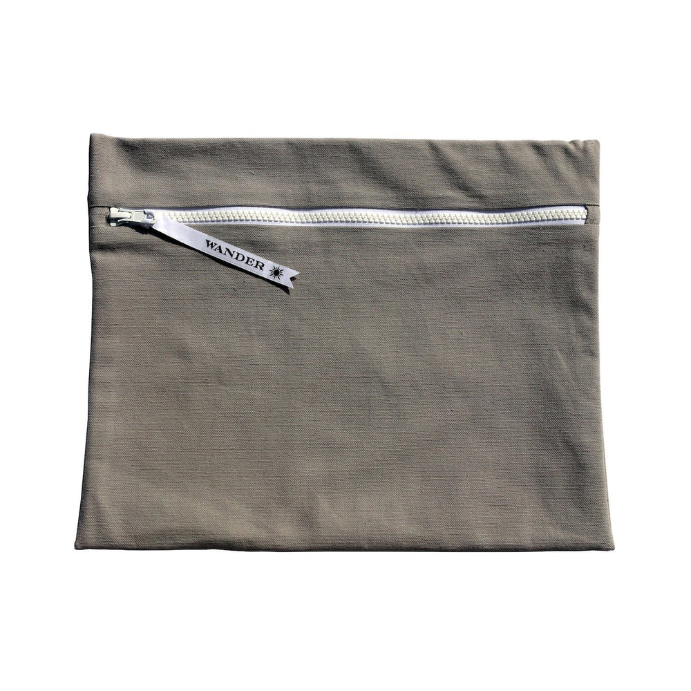 solid gray wet swimsuit bag or swim gear bag - Minimalist in Marine Layer by Wander Wet Bags™