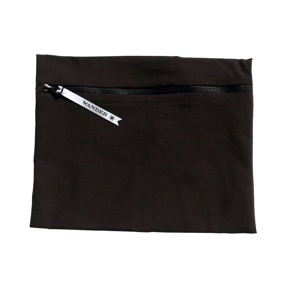 solid black wet swimsuit bag or swim gear bag - Minimalist in Noir by Wander Wet Bags™