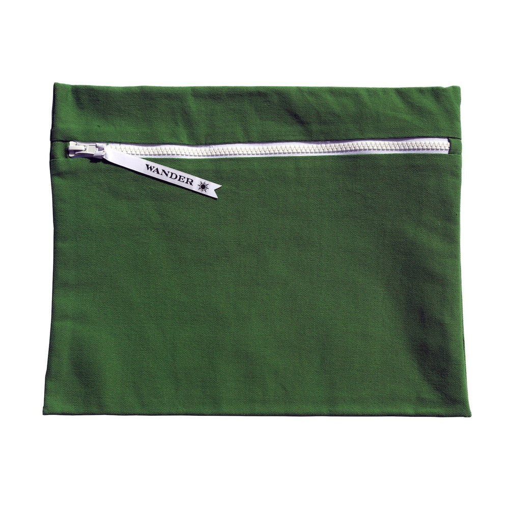 solid green wet swimsuit bag or swim gear bag - Minimalist in Palm by Wander Wet Bags™