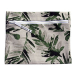 gray and green palm leaves wet swimsuit bag or bikini bag - Stand Tall in Palm Frond by Wander Wet Bags™