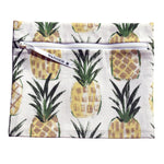white, green, and yellow pineapple wet swimsuit bag or bikini bag - Wear a Crown in Pineapple Yellow by Wander Wet Bags™