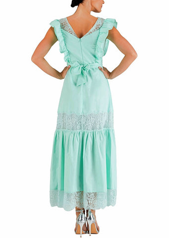 Cotone Abito c/ Balze c/ Rica - Cotton Dress - 40% off