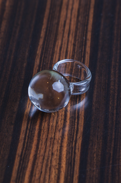 Globe - Transparent Glass Ring