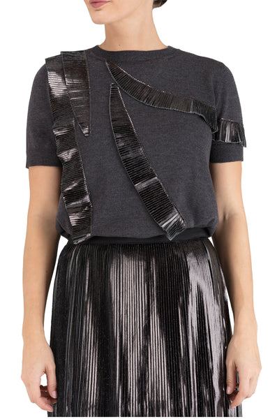 Black Ruffled Top 15% off