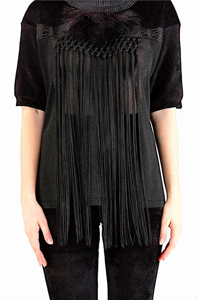 Black Feather Blouse 40% off