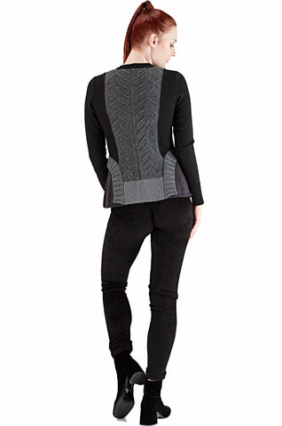 Black Ruffles Cardigan - 20% off