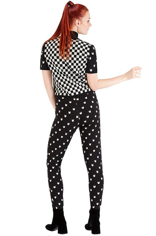 Checkered Pattern Blouse - 30% off