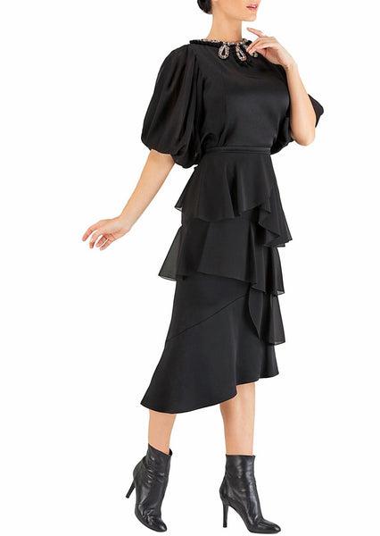 Black Ruffles Skirt - 50% off