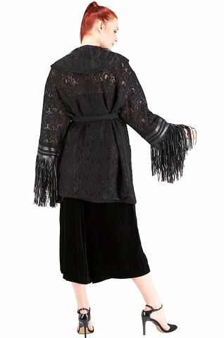 Black Lace Cardigan - 40%off