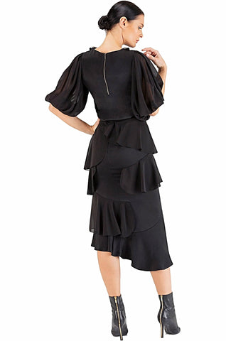 Black Ruffles Skirt - 60% off
