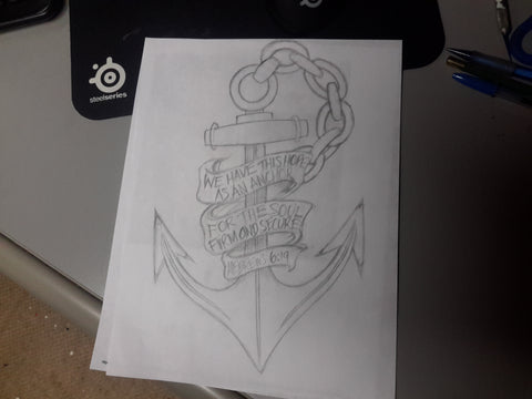 An Anchor of the Sea drawing by Tom Tate