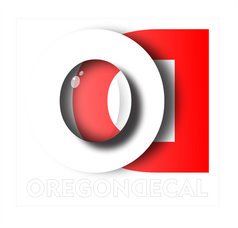Oregon Decal logo 2 by Tom Tate