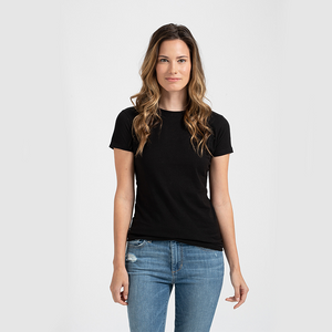 Ladies Slim Fit Fine Jersey Tee T-Shirt by Tultex