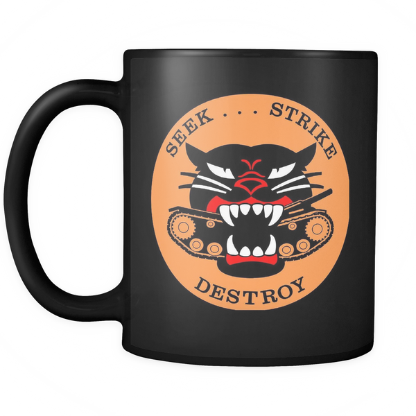 M18 HELLCAT TANK DESTROYER BLACK MUG - #002
