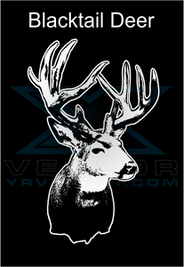 Vector File Download of a Blacktail Deer by YR VECTOR .COM - TaterSkinz
