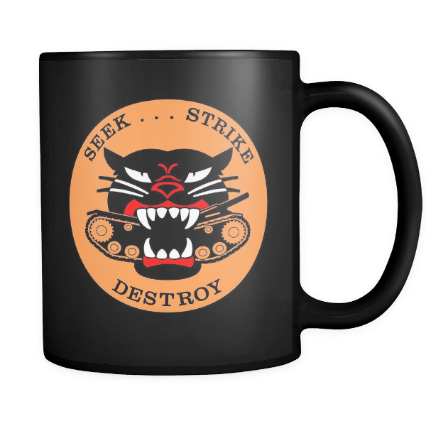 M18 HELLCAT TANK DESTROYER BLACK MUG - #002 - TaterSkinz