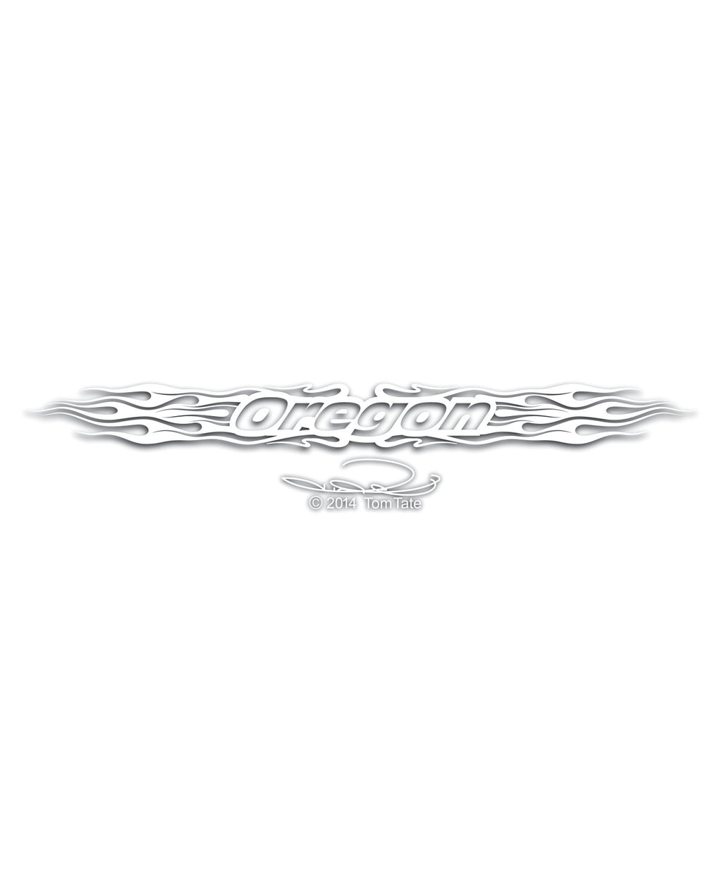 Oregon a Flaming ~ Auto Decal Banner - TaterSkinz