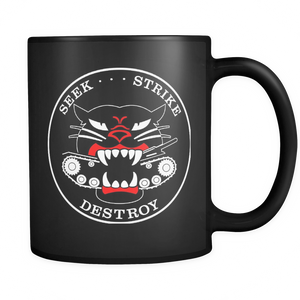 M18 HELLCAT TANK DESTROYER BLACK MUG - #001 - TaterSkinz