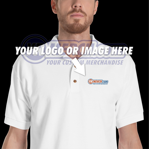YR MERCH .COM Embroidered Polo Shirt