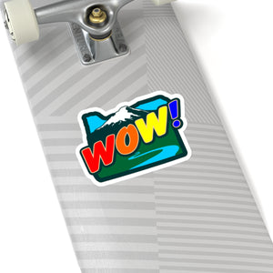 Oregon Wow Rainbow Kiss-Cut Sticker - TaterSkinz