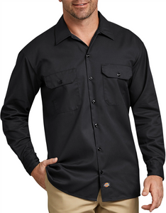 Work Shirt Black Long Sleeve ~ Made by Dickies