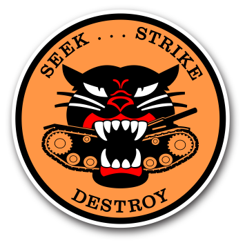 M18 HELLCAT TANK DESTROYER INDOOR STICKER - #002