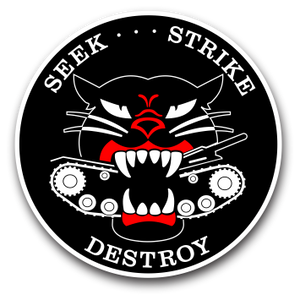 M18 HELLCAT TANK DESTROYER INDOOR STICKER - #001