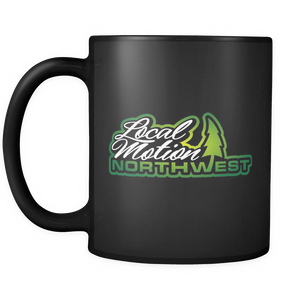 LOCAL MOTION NORTHWEST BLACK MUG - TaterSkinz