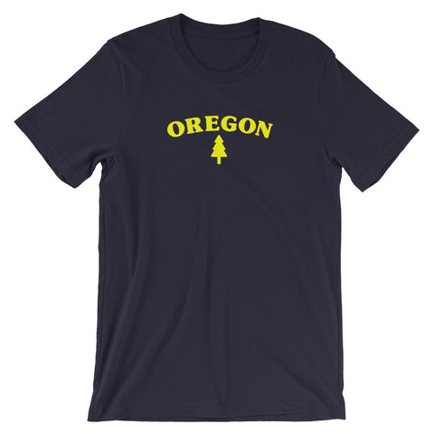 Oregon Tree Short-Sleeve Unisex T-Shirt - TaterSkinz
