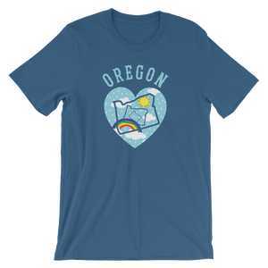 OREGON LOVE Oregon tee shirt merch - Tom Tate Studios