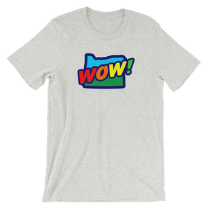 OREGON WOW RAINBOW #003 Short-Sleeve Unisex T-Shirt - TaterSkinz