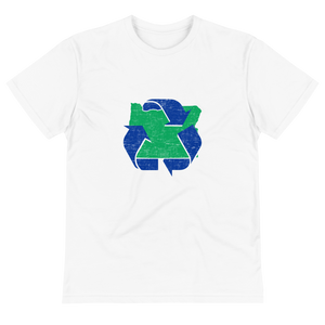 Keep It Green Oregon and Recycle Sustainable T-Shirt - TaterSkinz