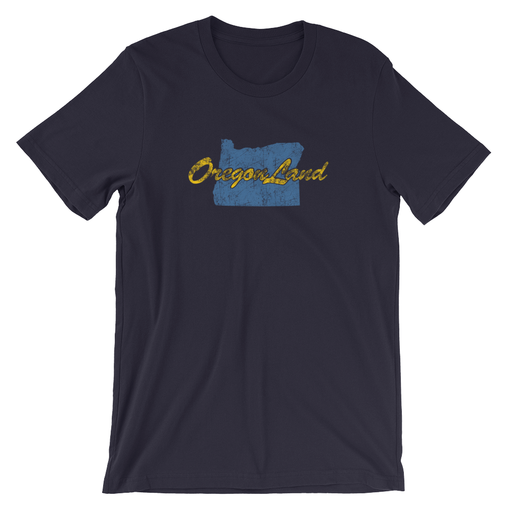 OREGON LAND vintage look graphic T-Shirt - TaterSkinz