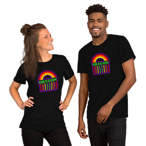 OREGON RAINBOW RAIN Short-Sleeve Unisex T-Shirt
