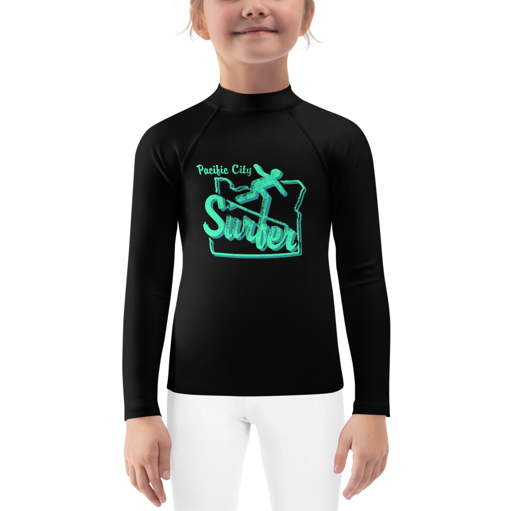 Pacific City Surfer Kids Rash Guard - TaterSkinz