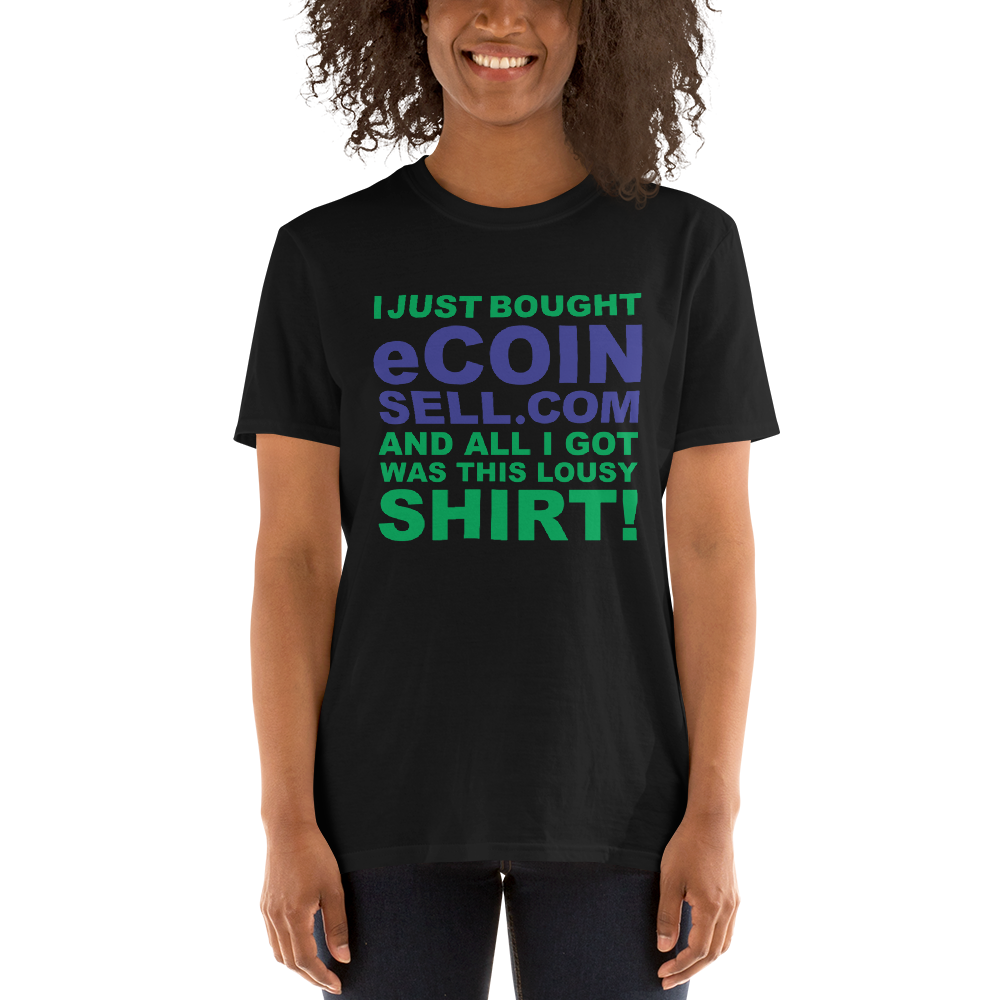 I just bought eCOINSELL.com and all I got was this lousy Shirt! Free with domain purchase. iDomain360 domains for sale - TaterSkinz