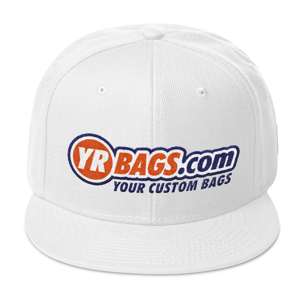 YR BAGS .COM Snapback Hat YOUR CUSTOM BAGS BAG BACKPACK FANNY PACK