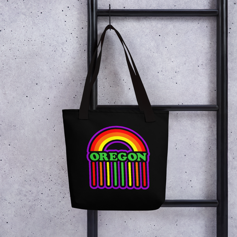 Oregon Rainbow Rain Tote bag