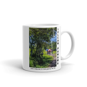 Lady's Strolling to Town Mug photo by Tom Tate Panama Scene