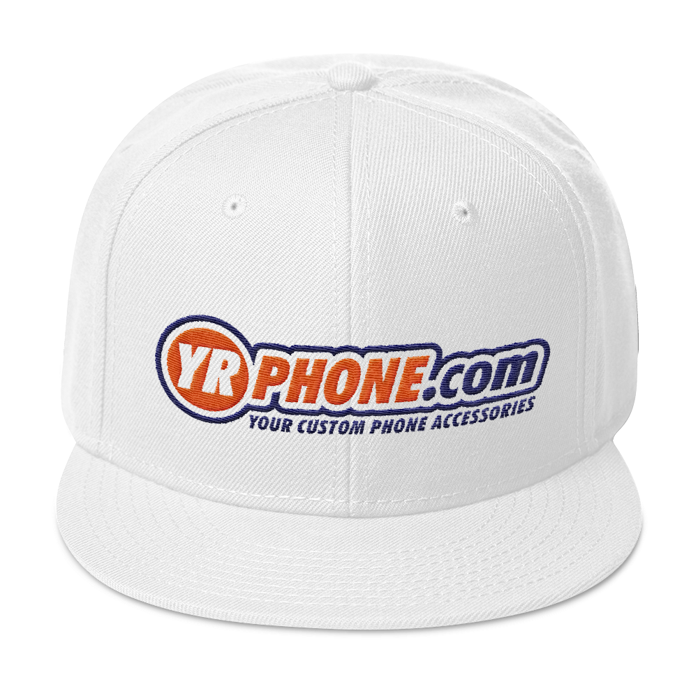 YR PHONE .COM Snapback Hat YOUR CUSTOM PHONE ACCESSORIES - TaterSkinz